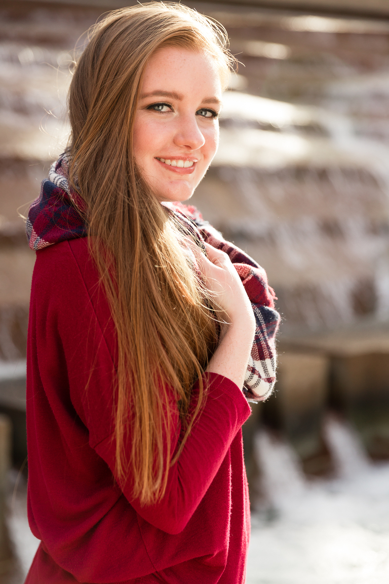 Southlake Senior Photography Fort Worth Water Garden